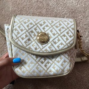 Tommy Hilfiger golf and white cross body bag